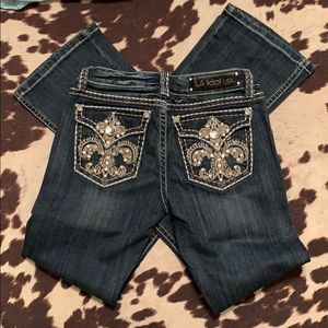 L.A. idol Jeans - Bling Jeans LA Idol boot cut jeans